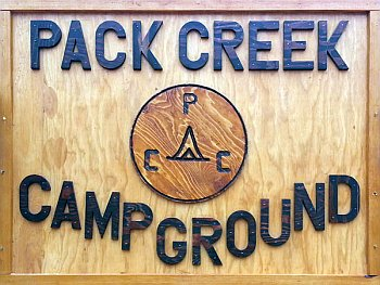 Pack Creek Sign